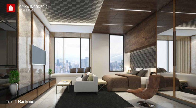 apartemen tipe 1 kamar kairaku residence karawang