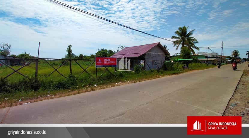 Tanah Dijual Pinggir Jalan Raya Desa Kapur Kubu Raya