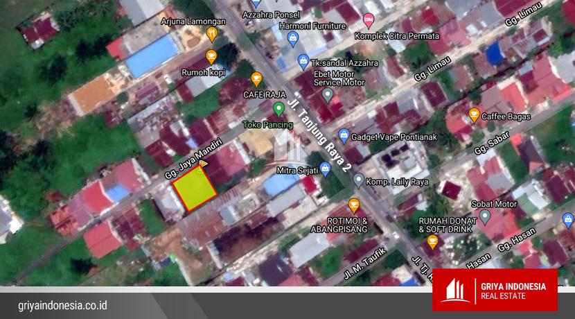 lokasi tanah dijual di pontianak jl tanjung raya 2